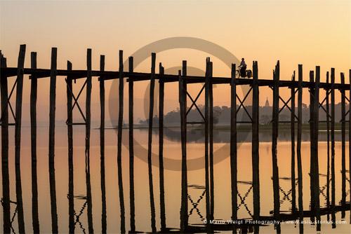 Fotografie in Myanmar (Burma) - U-Bein_Brücke in Amarapura | Foto Mario Weigt