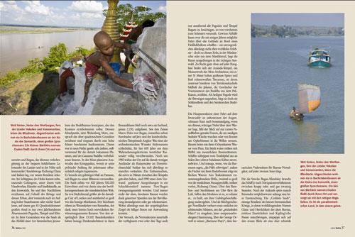 Reportage Irrawaddy - Burmas goldener Strom | Fotos Mario Weigt | Text Walter M. Weiss