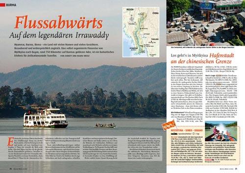 Myanmar, Burma - Flussabwärts von Myitkyina nach Bagan auf dem legendären Irrawaddy (Ayeyarwady) | Reisereportage von Annett und Mario Weigt