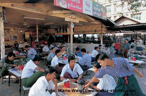 Teestube in Myanmar, Burma | Foto Mario Weigt | www.asia-stories.com