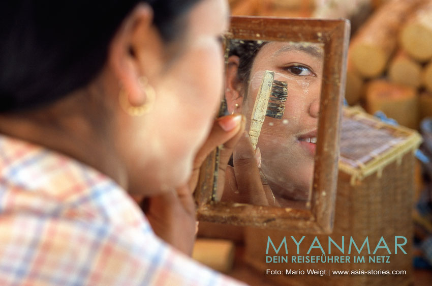 Myanmar Reisetipps | Thanaka - Make-up und Sonnenschutz