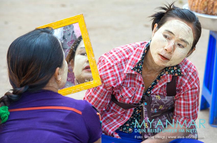 Reisetipps für Myanmar: Thanaka - Make-up und Sonnenschutz