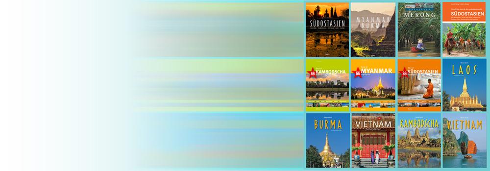 Bildbände, Reiseführer von Südostasien, Myanmar, Thailand