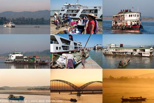 Mit dem IWT Schiff von Bhamo nach Mandalay und weiter nach Bagan| Mario Weigt Photography