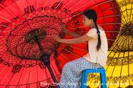 Reisetipp für Myanmar, Burma: Schirmherstellung in Pathein | Mario Weigt Photography