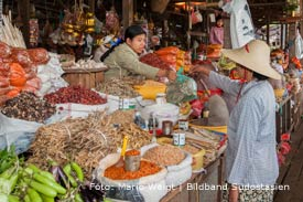 Reisetipp für Myanmar, Burma: Markt in Yangon | Mario Weigt Photography