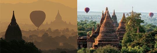 Mit dem Ballon über Bagan | Foto Mario Weigt | Premium Bildband Südostasien | Verlagshaus Würzburg/Stürtz