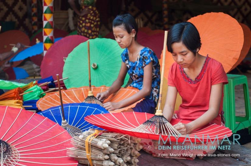 Reisetipp für Myanmar - Handwerkskunst, Mitbrinsel und Souvenirs