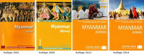 Aktuelle Auflage vom Stefan Loose Travel Handbücher Myanmar, Burma, Birma