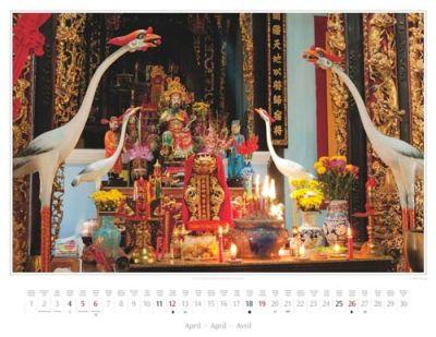 Kalender Vietnam 2015 | Altar im Tempel Dinh Than Chau Phu in Chau Doc | Foto Mario Weigt | Kalenderverlag Stürtz