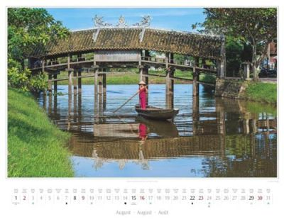 Kalender Vietnam 2015 | Thanh-Toan-Brücke im Dorf Cau Ngoi bei Hue | Foto Mario Weigt | Kalenderverlag Stürtz