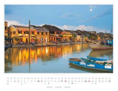 Kalender Vietnam 2015 | Abendstimmung am Song Thu Bon in Hoi An | Foto Mario Weigt | Kalenderverlag Stürtz