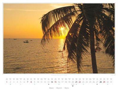 Kalender Vietnam 2015 | Sonnenuntergang in Duong Dong auf der Insel Phu Quoc | Foto Mario Weigt | Kalenderverlag Stürtz