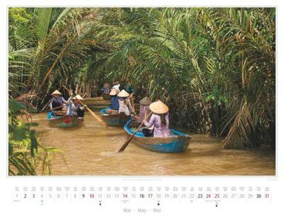 Kalender Vietnam 2015 | Ruderinnen auf einem Kanal der Insel Thoi Son bei My Tho | Foto Mario Weigt | Kalenderverlag Stürtz