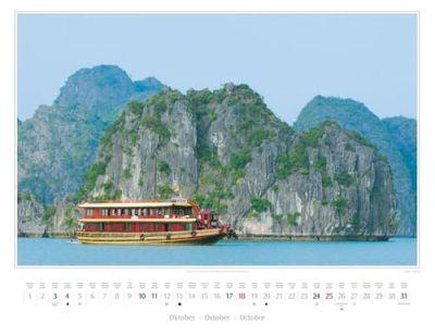 Kalender Vietnam 2015 | UNESCO-Weltnaturerbe: die Halong-Bucht mit ihren Kalkfelsen | Foto Mario Weigt | Kalenderverlag Stürtz