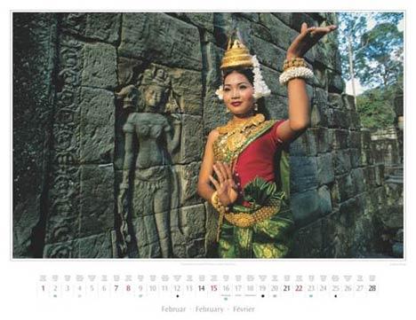 Kambodscha Kalender 2015 | Februar | Apsara-Tänzerin in Angkor | Foto Mario Weigt