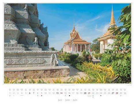 Kambodscha Kalender 2015 | Juni | Königspalast in Phnom Penh | Foto Mario Weigt | Kalenderverlag Stürtz