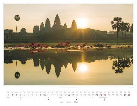 Kambodscha Kalender 2015 | Mai | Sonnenaufgang am Angkor Wat | Foto Mario Weigt | Kalenderverlag Stürtz
