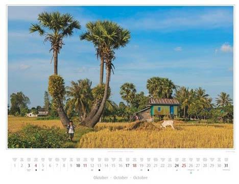 Kalender Kambodscha 2015, Oktober: Landschaft in der Nähe von Kep | Foto Mario Weigt | Kalenderverlag Stürtz