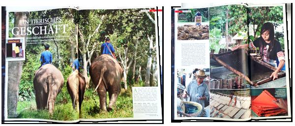 Thailand: Papier aus Elefanten-Dung | Fotos Mario Weigt