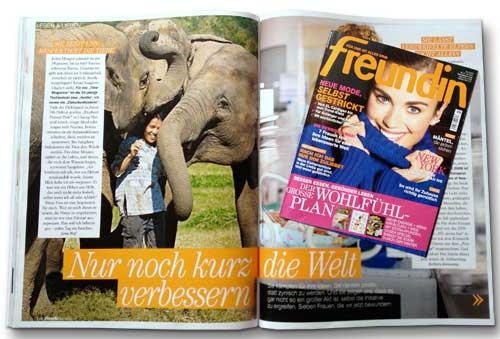 Sangduen Lek Chailert im Elephant Nature Park in Thailand | Foto Mario Weigt für die Zeitschrift Freundin