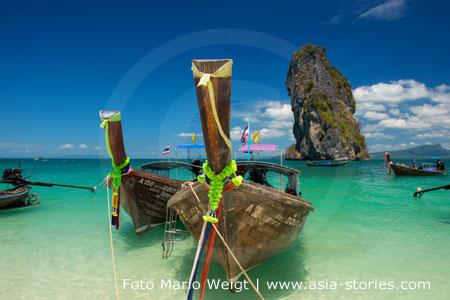 Thailand | Provinz Krabi | Blick von der Insel Koh Poda | Foto Mario Weigt