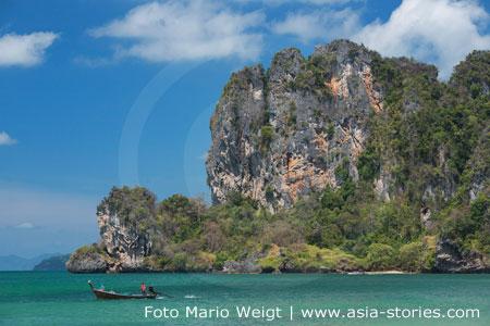 Thailand | Provinz Krabi | Blick vom Railay, Railei oder Rai Leh Strand | Foto Mario Weigt