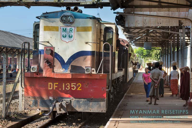 Myanmar Reisetipps   Mit dem Zug durch Myanmar
