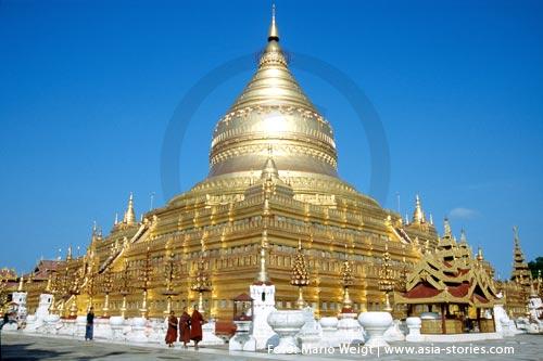 Festivals und Feiertage in Myanmar (Burma, Birma) | Bagen | Shwezigon Pagode | Foto: Mario Weigt