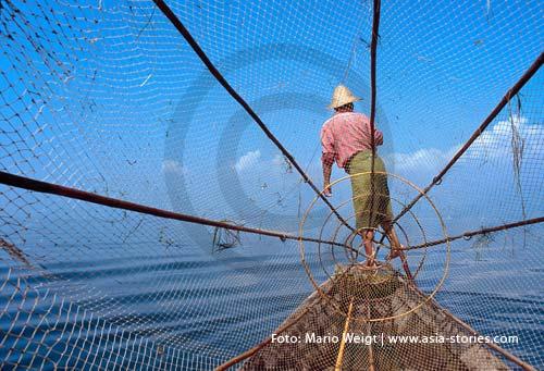 Myanmar (Burma, Birma) | Nyaungshwe | Fischer auf dem Inle-See | Foto: Mario Weigt