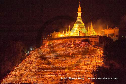 Festivals und Feiertage in Myanmar (Burma, Birma) | Lichterfest | Foto: Mario Weigt