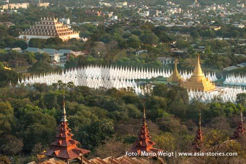 Myanmar (Burma, Birma) | Mandalay | Blick vom Mandalay Hill | Foto: Mario Weigt
