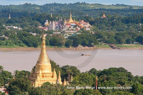 Festivals und Feiertage in Myanmar (Burma, Birma) | Pyay | Shwesandaw Pagoden-Festival | Foto Mario Weigt