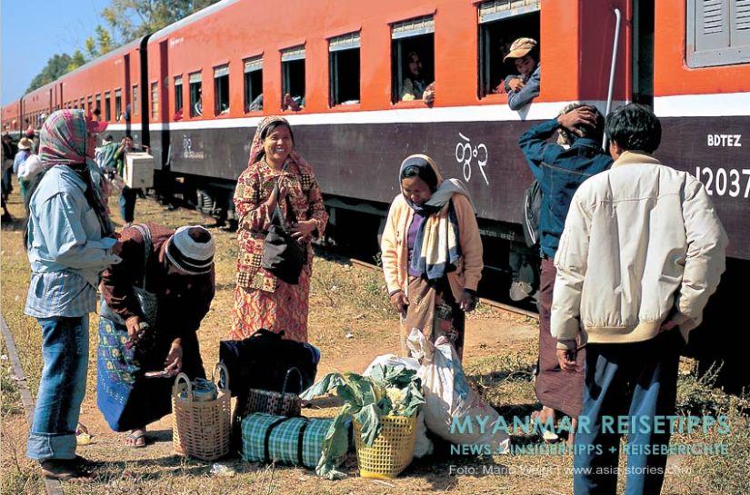 Myanmar Reisetipps   Mit dem Zug durch Myanmar   Preise und Abfahrtszeiten