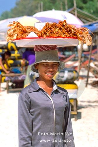 Kambodscha | Sihanoukville | Shrimps-Verkäuferin | Foto: Mario Weigt