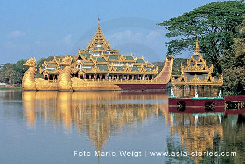 Yangon, Kandawgyi Park: Die Toten Hosen geben ein Konzert in Myanmar, Burma, Birma