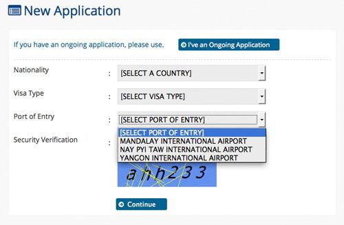 Myanmar (Burma, Birma): E-Visum (eVisa) für Yangon, Mandalay und Naypyidaw