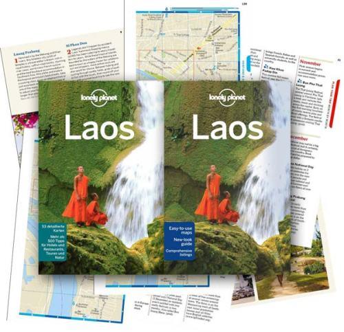 Reiseführer für Laos: Die aktuelle Auflage vom Lonely Planet Laos in Deutsch und Englisch