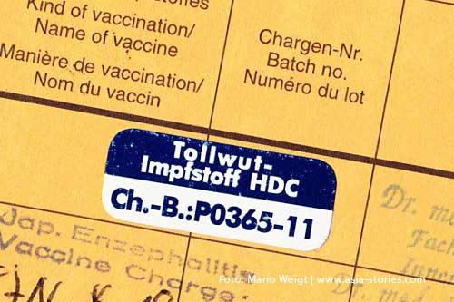 Reisetipp Laos: Eine Impfung gegen Tollwut ist bei einem Aufenthalt in ländlichen Gebiete empfehlenswert.