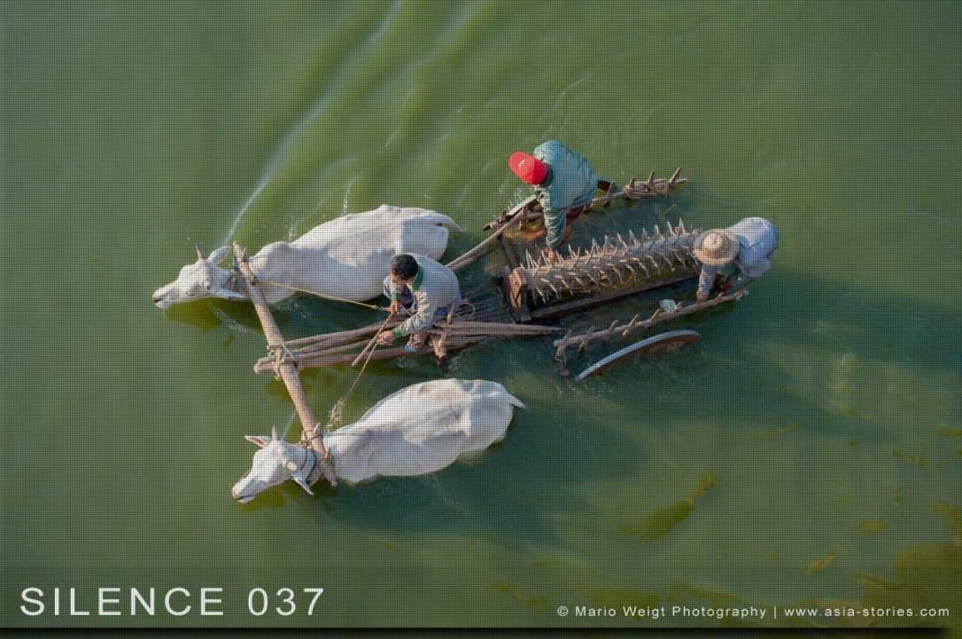 Fotoabzüge und Fine Art Prints aus der Fotoserie SILENCE | Myanmar (Burma) | Mandalay | Bauern in Amarapura | Foto: Mario Weigt