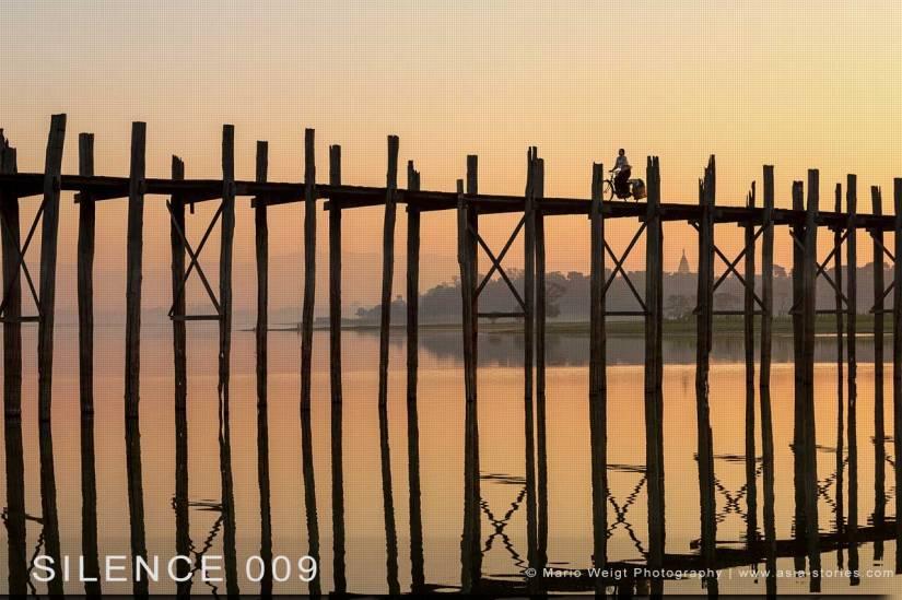 Fotoabzüge und Fine Art Prints aus der Fotoserie SILENCE | Myanmar (Burma) | U-Bein-Brücke in Amarapura | Foto: Mario Weigt