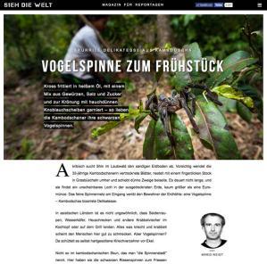 Reportage: Frittierte Vogelspinnen zum Frühstück in SIEH DIE WELT von Mario Weigt | www.asia-stories.com