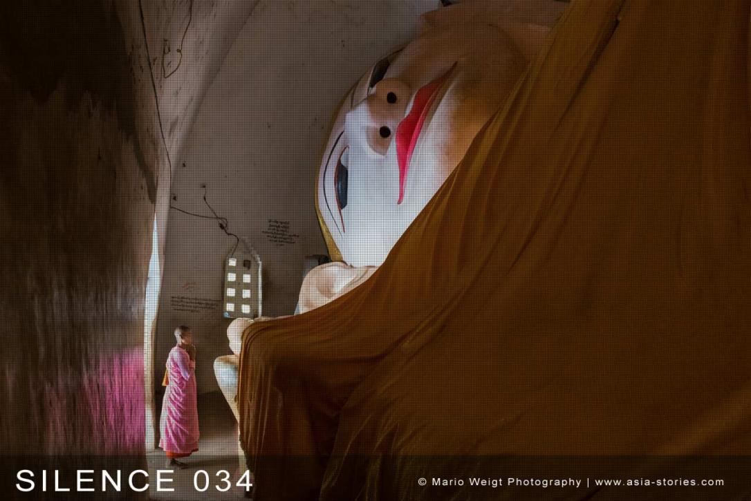 Fotoabzüge und Fine Art Prints aus der Fotoserie SILENCE | Myanmar (Burma) | Betende Nonne | Foto: Mario Weigt