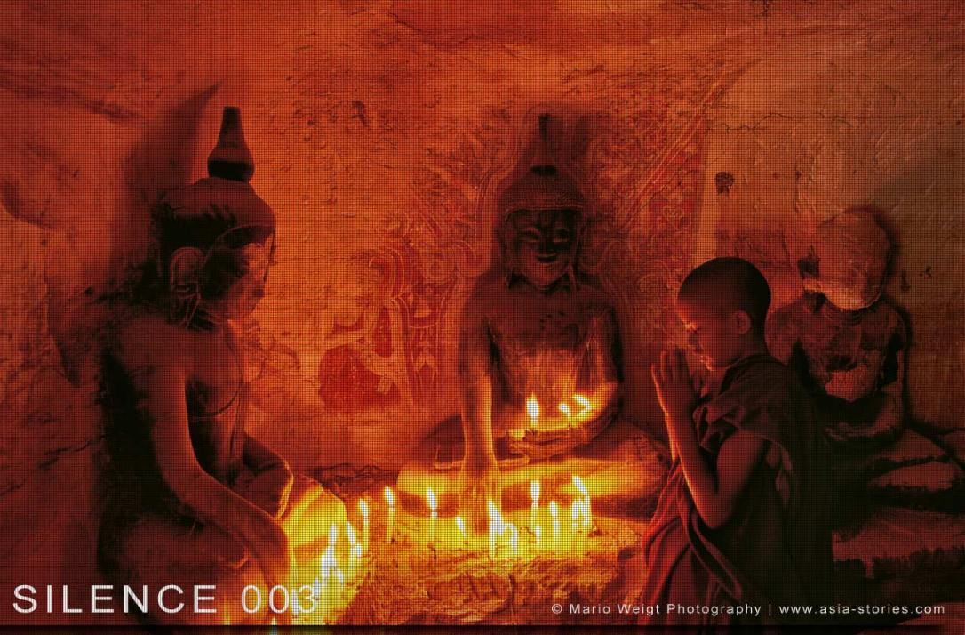 Fotoabzüge und Fine Art Prints aus der Fotoserie SILENCE | Myanmar (Burma) | Novize beim Gebet