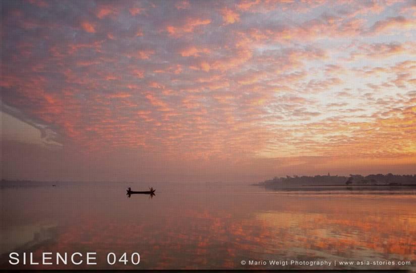 Fotoabzüge und Fine Art Prints aus der Fotoserie SILENCE | Myanmar (Burma) | U-Bein-Brücke | Morgenstimmung in Amarapura | Foto: Mario Weigt