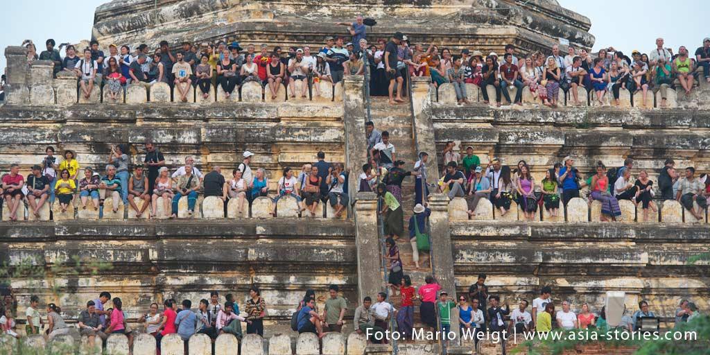 Regierung in Myanmar verbietet die Besteigung der tempel und Pagoden in Myanmar (Burma)