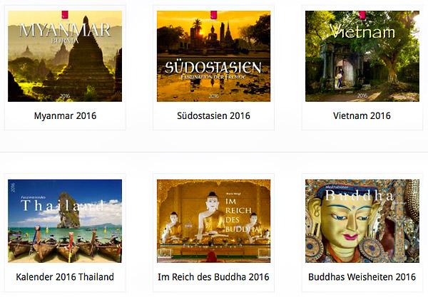 Kalender für 2016 Myanmar (Burma), Südostasien, Vietnam, Thailand, Im Reich des Buddha und Buddha Meditation mit Fotos von Mario Weigt