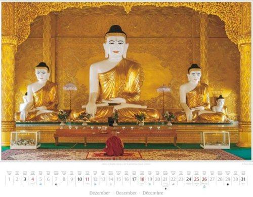 Monatsblatt Dezember vom Kalender 2016 MYANMAR | BURMA | Buddha-Statuen in der Shwemokhtaw-Pagode in Pathein | Foto von Mario Weigt | Verlagshaus Würzburg / Stürtz | Größe 60 x 48 cm | Preis: 27,95 Euro