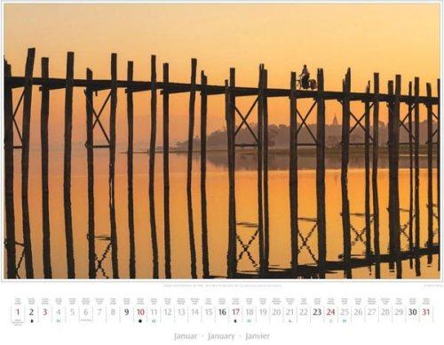 Monatsblatt Januar vom Kalender 2016 MYANMAR | BURMA | U-Bein-Brücke über den Taungthaman-See | Foto von Mario Weigt | Verlagshaus Würzburg / Stürtz | Größe 60 x 48 cm | Preis: 27,95 Euro
