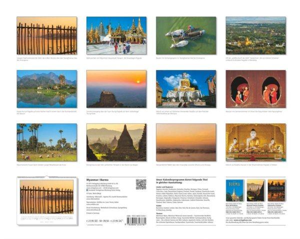 Kalender 2016 MYANMAR | BURMA | Fotos Mario Weigt | Verlagshaus Würzburg / Stürtz